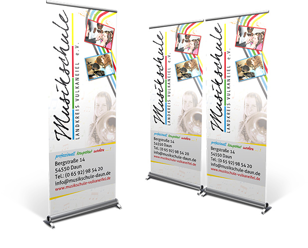 Roll-Up Banner Musikschule Daun